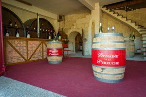 Domaine de la Perruche - Vue intérieure de la boutique de vente de vins